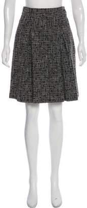 Chanel Pleated Knee-Length Skirt