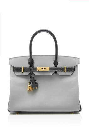 Hermes Heritage Auctions Special Collections 30cm Gris Mouette and Black Epsom Leather Birkin