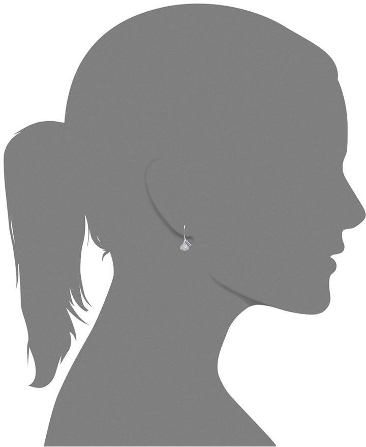Hershey's Sterling Silver Kiss Earrings, Diamond Drop Earrings (1/6 ct. t.w.)