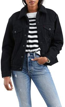 Levi's Ex-Boyfriend Faux Fur Lined Denim Jacket