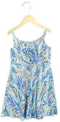 Kenzo Girls' Jungle Print Scoop Neck Dress w/ Tags