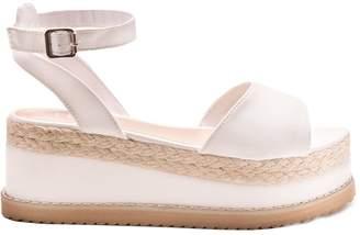 664a4a9f8d8 Missy Empire Missyempire Breeze White Suede Vamp Espadrille Flatform Sandals