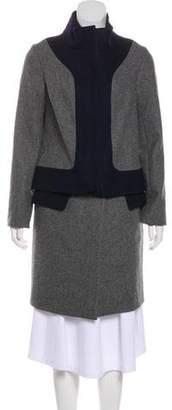 Lela Rose Colorblock Knee-Length Coat w/ Tags
