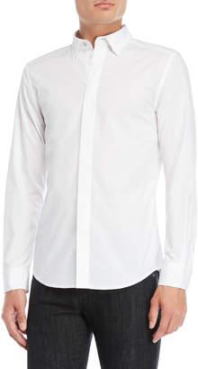 Diesel White Solid Sport Shirt
