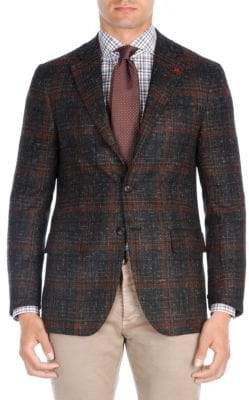 Isaia Plaid Wool Sportcoat