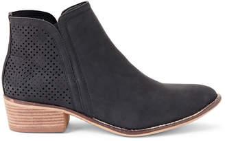 Madden-Girl Black Paris Neville Laser Cut Ankle Boots