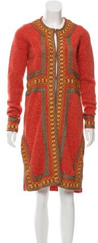 Anna SuiAnna Sui Embroidered Wool Cardigan
