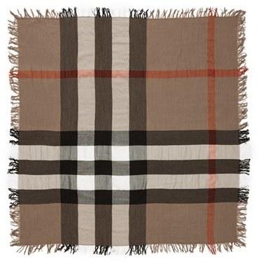 Women's Burberry Check Merino Wool Scarf