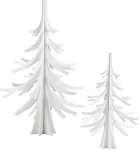 Crate & Barrel White Christmas Trees