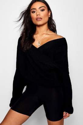 boohoo Lucy Wrap Jumper