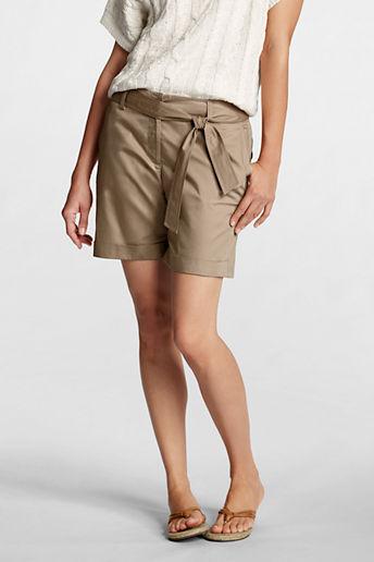 Lands' End Women's Petite Fit 2 Paper Poplin 7 Shorts