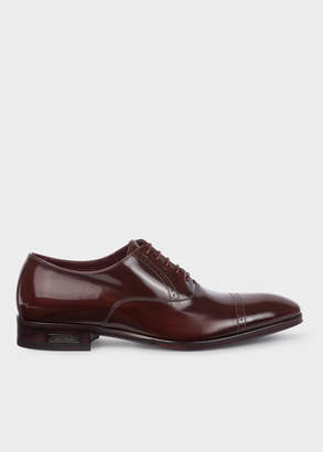 Paul Smith Men's Burgundy Patent Leather 'Lord' Oxford Shoes