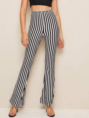 Shein Striped High Waist Flare Pants