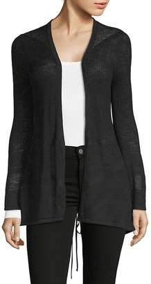 August Silk Women's Lace-Up Back Cardigan