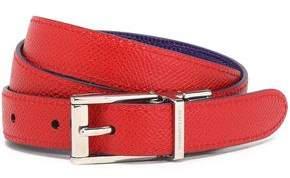 Dolce & Gabbana Lizard-Effect Leather Belt