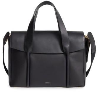 Skagen Beatrix Leather Satchel - Black $325 thestylecure.com
