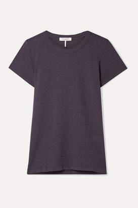 Rag & Bone The Tee Pima Cotton-jersey T-shirt - Dark purple
