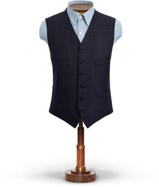 Ralph Lauren Windowpane Wool Dobby Vest