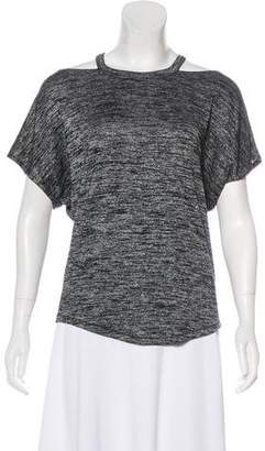 Rag & Bone Short Sleeve Cold Shoulder Top