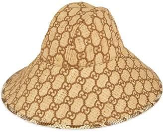 4dfa6ff35 Gucci GG fedora hat with snakeskin