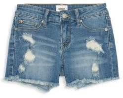 Hudson Jeans Little Girl's& Girl's Ava Distressed Fray Shorts