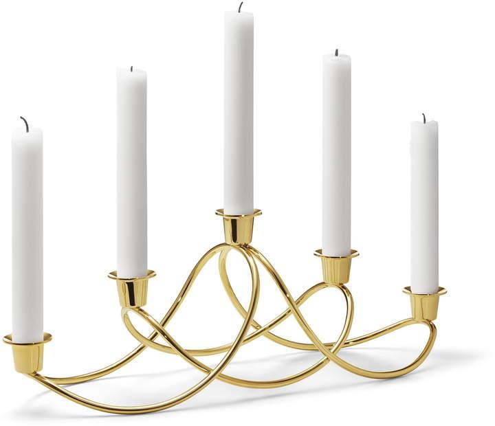 Harmony Kerzenleuchter, Edelstahl verGoldet