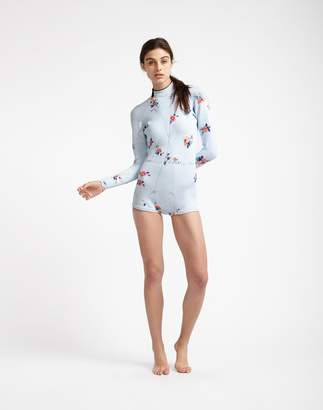 Cynthia Rowley Light Blue Floral Wetsuit