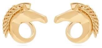 Chloé Horse Head Gold Tone Earrings - Womens - Gold