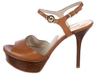 MICHAEL Michael Kors Leather Slingback Sandals