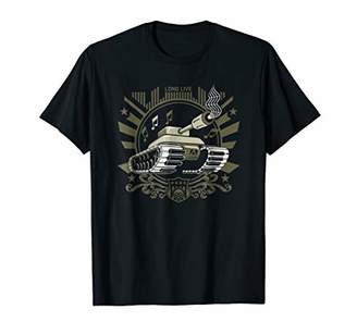 Men's Military Tank and Crazy Piano Keyboard Graphic T-Shirt