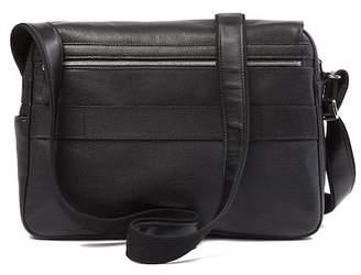 Longchamp Large Leather Messenger Bag