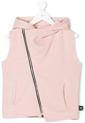 Nununu off-center zipped hoodie