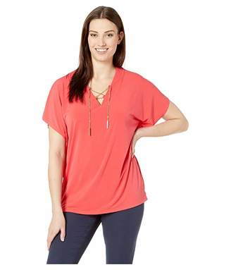 MICHAEL Michael Kors Lace-Up Tunic Top