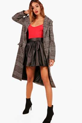 boohoo Louisa Check Wool Look Coat