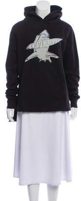 Baja East Graphic Oversize Hooded Sweatshirt