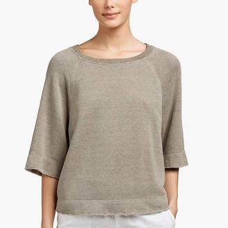 James Perse PLUSH TERRY BOXY SWEAT TOP