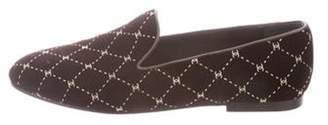 Chanel Velvet Round-Toe Loafers Brown Velvet Round-Toe Loafers