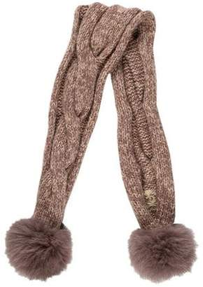 Juicy Couture Wool-Blend Fur-Trimmed Scarf