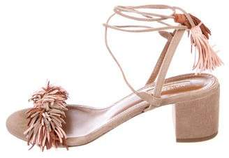 Aquazzura Wild Thing City Suede Sandals
