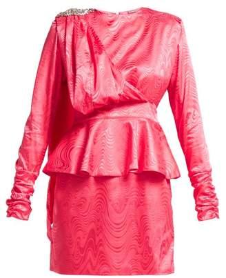 Dodo Bar Or - Grace Crystal Emebllished Satin Dress - Womens - Pink