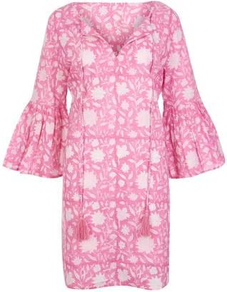 At Last... - Belle Tassel Cotton Dress Floral Pink