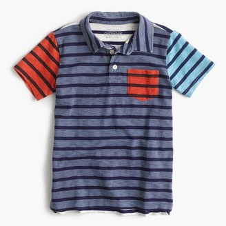 Boys' polo shirt in stripe mash-up $39.50 thestylecure.com