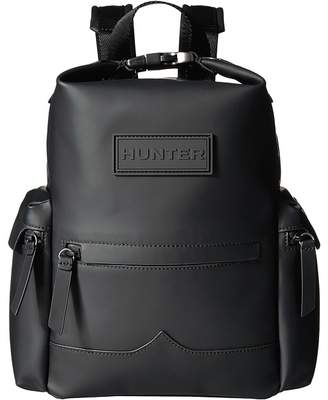 Hunter Mini Top Clip Backpack Rubberized Leather Backpack Bags