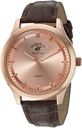 Beverly Hills Polo Club US Men's ' Quartz Metal Automatic Watch, Color:Brown (Model: 52961)