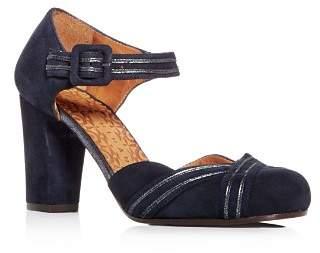 Chie Mihara Women's Kilo Suede Block-Heel Pumps