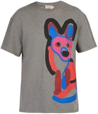 MAISON KITSUNÉ Acide Fox Print T Shirt - Mens - Grey Multi