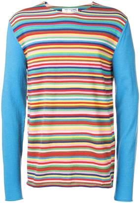 Comme des Garcons Boys striped longline sweater
