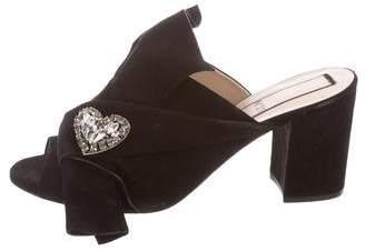 No.21 No. 21 Embellished Suede Sandals