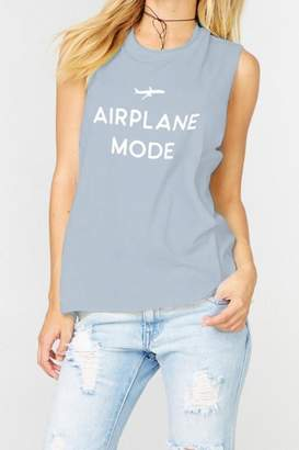 The Laundry Room Airplane Mode Muscle-Tee