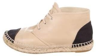 Chanel Lambskin Espadrille Chukka Boots